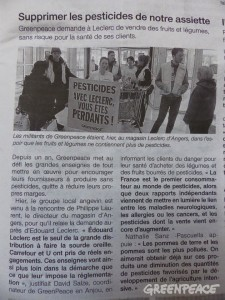 Article de presse de l'action