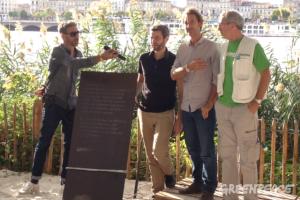 L'inauguration de  la plaque Fernando Pereira