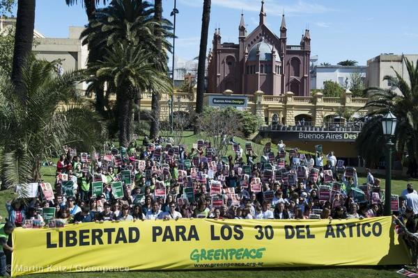 'Arctic 30' Global Day of Solidarity in Buenos Aires.