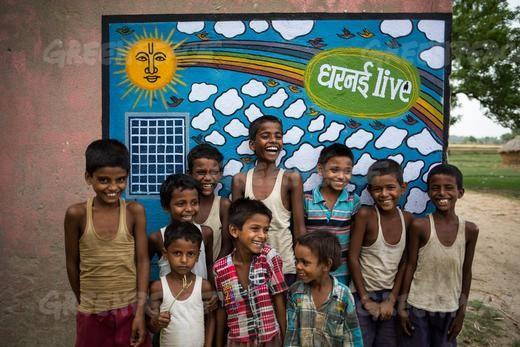 enfants_dharnai_greenpeace_inde