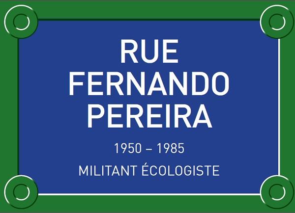 Une rue pour Fernando Pereira, militant écologiste tué par la DGSE le 10 juillet 1985