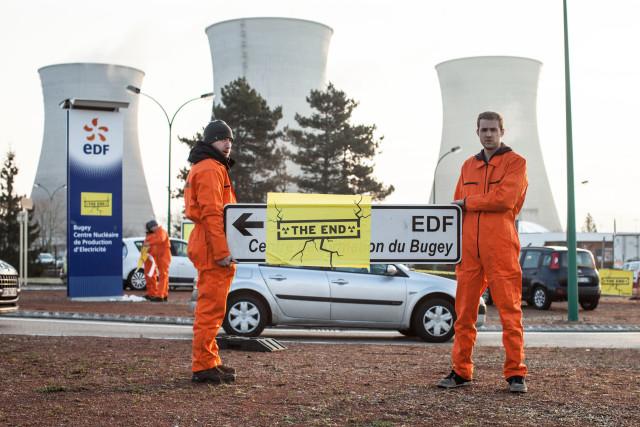 Action à la centrale nucléaire du Bugey @ Greenpeace / Pierre Baelen