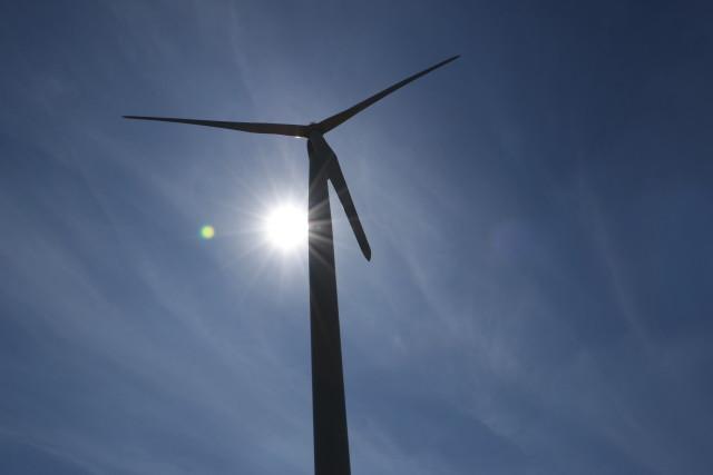 Une éolienne dans l'Indre © Greenpeace / Pierre Lascar
