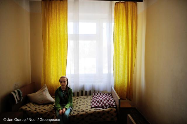 Childrens Hospital in KievKinder im Krankenhaus Kiew