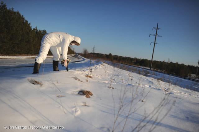 Radiation Measurement in Red ForestStrahlenmessung im Roten Wald nahe Tschernobyl