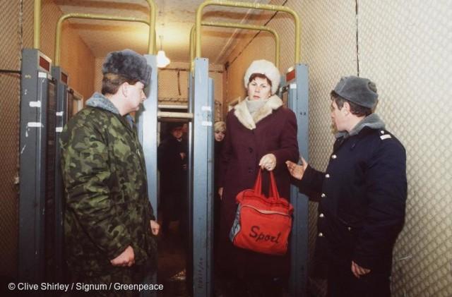 Decontamination Centre in Pripyat Eingang der 30km-Zone