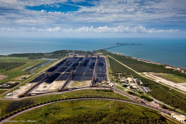 Le terminal charbonnier d'Abbot Point, destiné à l'exportation du charbon extrait à Carmichael, Queensland.
