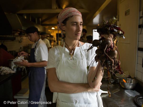 Paola Carosella, cheffe du restaurant écologique Arturito 0 São Paulo, Brésil.