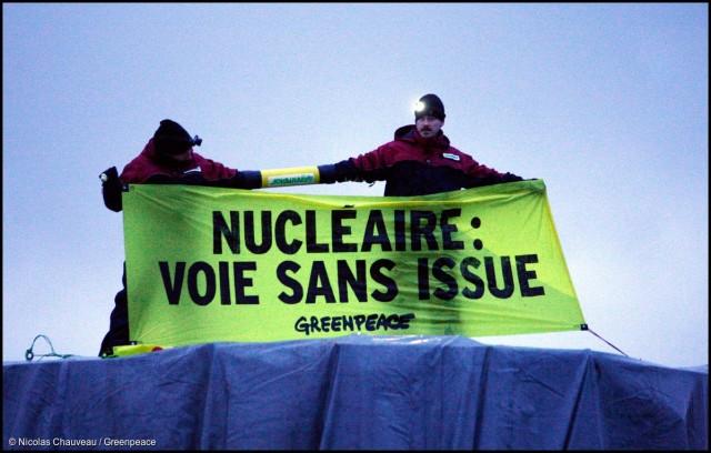 Blocage d'un convoi nucléaire vers Caen