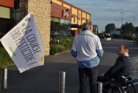 Course 0 pesticide, le groupe local à Auchan Englos