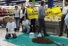 Wattrelos : des militants de Greenpeace investissent le supermarché Leclerc pour dire non aux pesticides