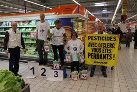 Course zéro pesticide: action au centre Leclerc de Sormiou