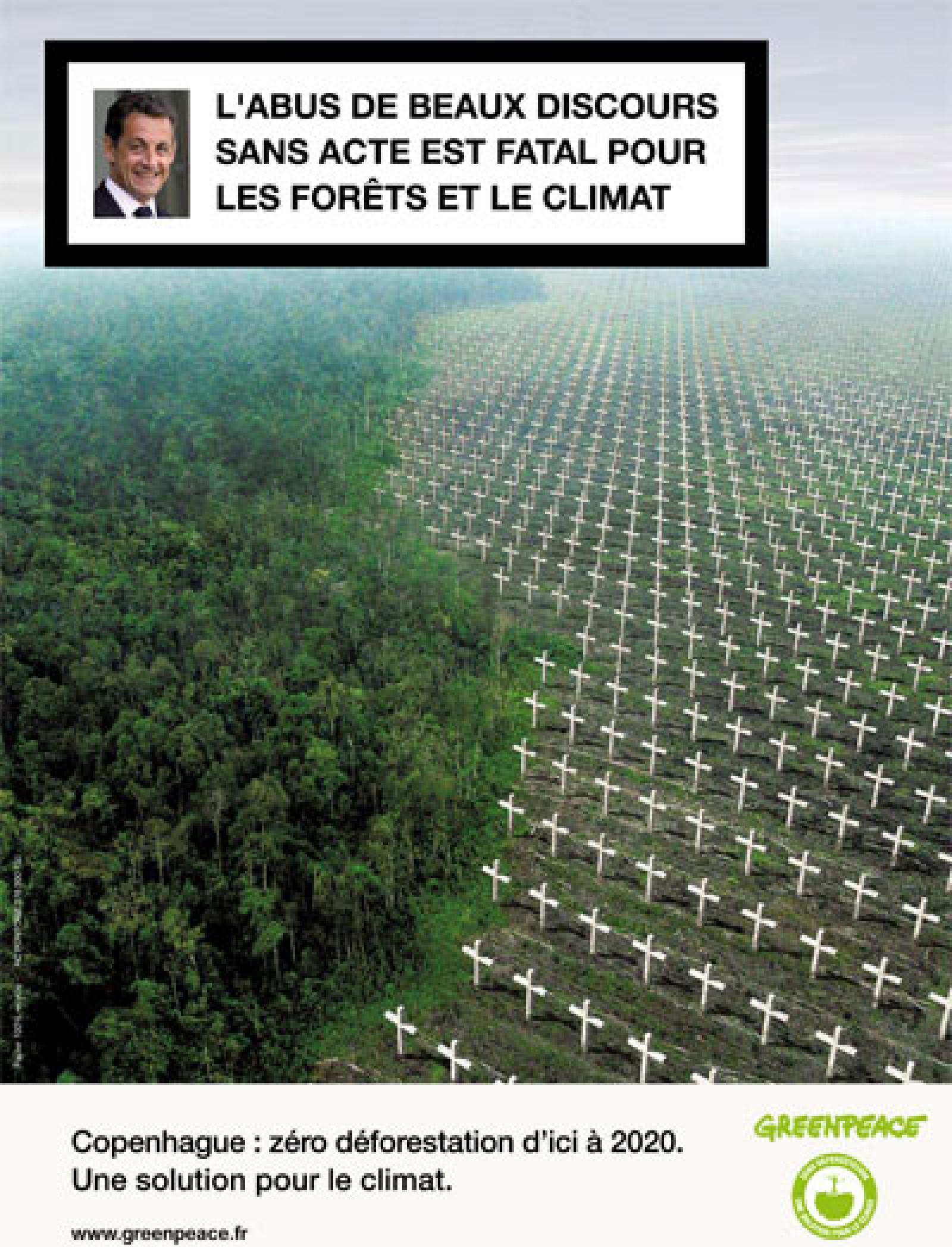 Top Greenpeace recouvre Paris d'affiches contre la déforestation  NI25