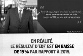 Comptes d'EDF : les militant-e-s de Greenpeace rappellent le PDG Jean-Bernard Lévy à la réalité