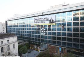 Action – Greenpeace bloque le siège d'EDF