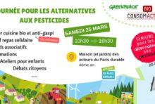 Samedi 25 mars : journée pour les alternatives aux pesticides