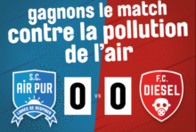 Samedi 16 juin : Grand match S.C. Air Pur contre le F.C. Diesel à Paris !