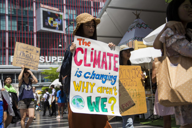 Manifestation pour le climat à Bangkok, Thaïlande, mars 2019. © Biel Calderon / Greenpeace
