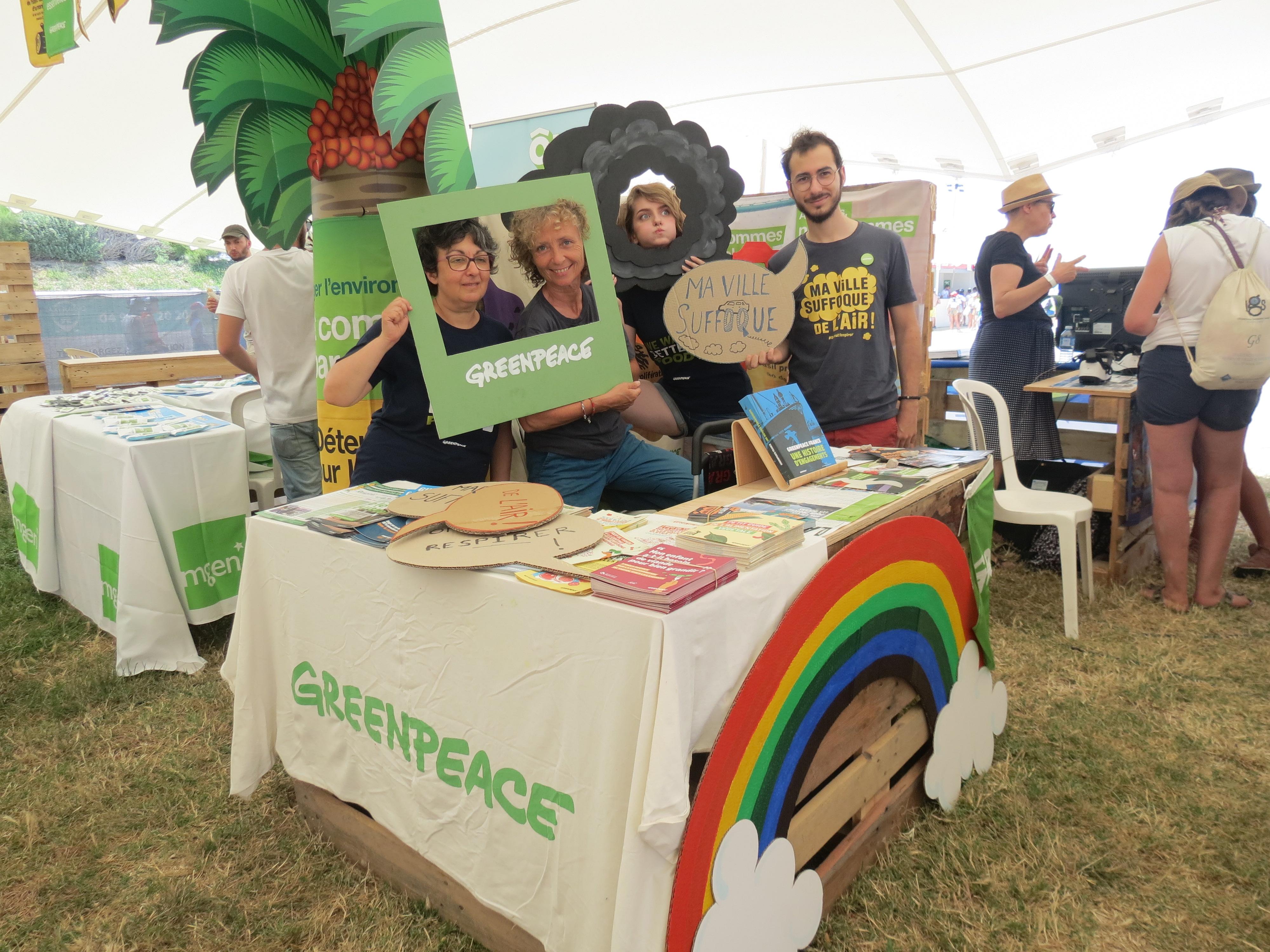 Militants Greenpeace au DELTA Festival