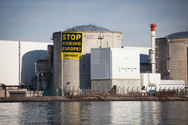 Protest at Nuclear Power Station FessenheimProtest am AKW Fessenheim