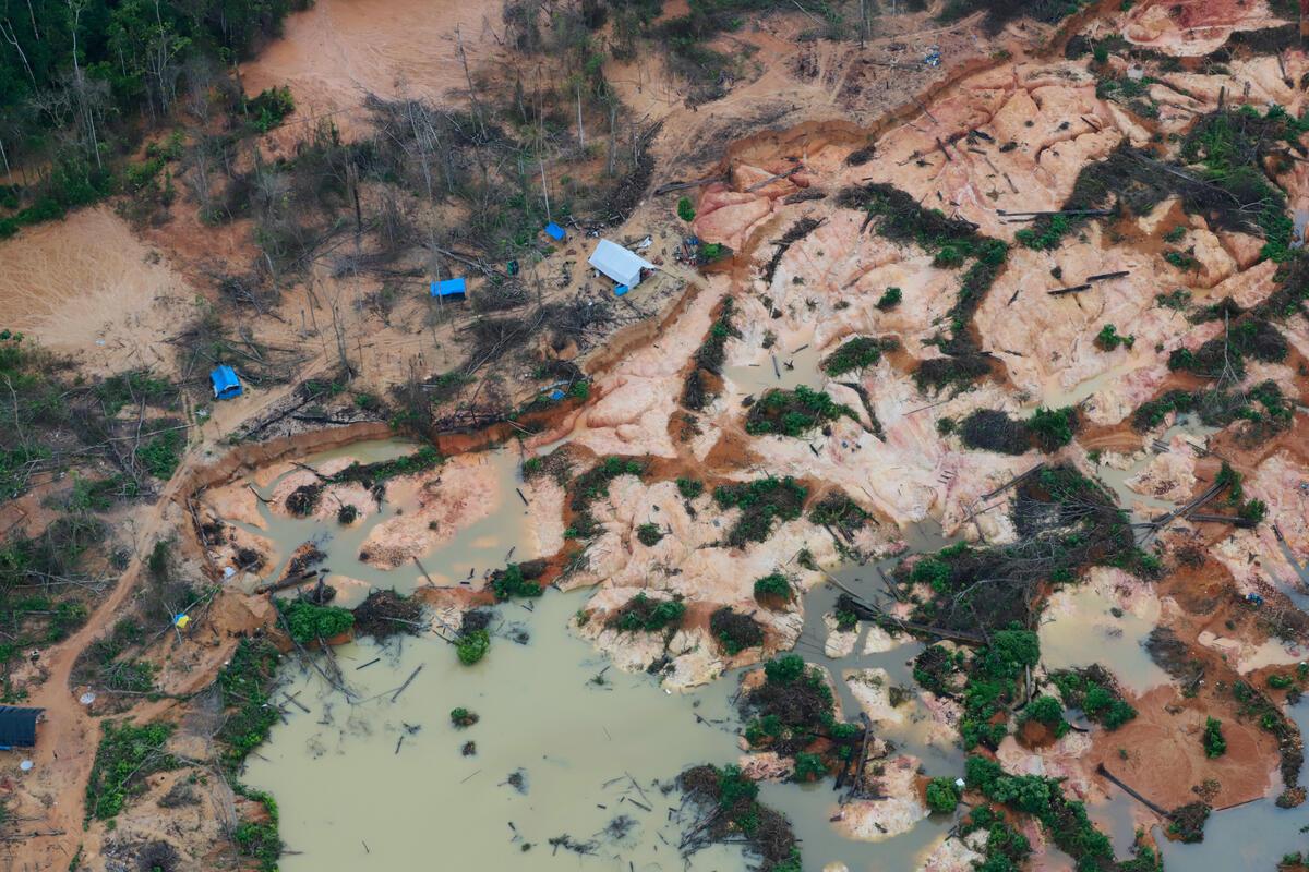 Mining in the Yanomami Indigenous Land in Brazil. © Chico Batata
