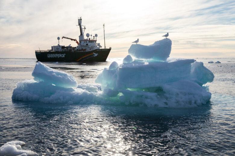 MY Arctic Sunrise in the Arctic Sea. © Daniella Zalcman
