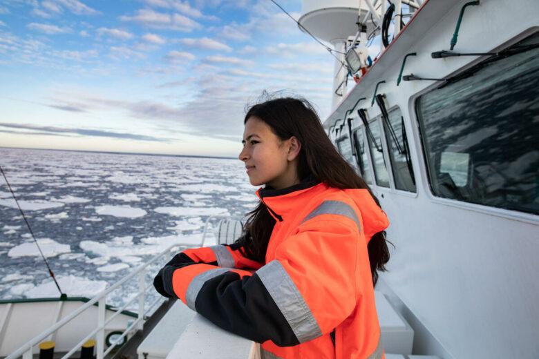 Mya-Rose Craig in the Arctic. © Daniella Zalcman