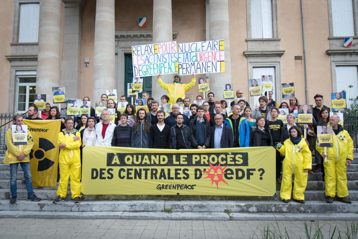 Second Trial for Exposing Nuclear EDF Plants Security Lack in France. © Elsa Palito